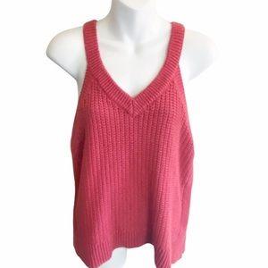 Madewell Stockton orange  Sweater Knit Tank Top